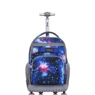 กระเป๋าล้อลาก Tilami/กระเป๋าเดินทาง/กระเป๋านักเรียน/กระเป๋าขึ้นเครื่อง ลายอวกาศ แมนๆๆ (ขนาด 18 นิ้ว) (ใช้ได้ทั้งเด็กและผู้ใหญ่)