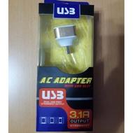 娃娃機 戰利品 USB 發光 充電器 三孔 可用 充電線