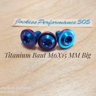 Titanium Bolt M6X15 Big Blue