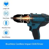 18V Cordless drill For Makita Cordless Drill Electric Combi Impact Driver Screwdriver 18V LXT- Body