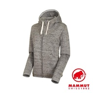 【Mammut 長毛象】Chamuera ML Hooded Jacket AF Women 印花針織刷毛連帽外套 花崗岩 女款 #1014-01390