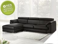 【YUDA】赫本 居家 MIT製造 半牛皮 調整式頭枕坐墊 L型 沙發/沙發椅/坐沙發(面左) J9S 431-2