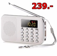 L-218 AM Rechargeable Portable Mini Speaker LED Digital Auto Scanner AM FM Radio with USB port TF micro SD card slot - intl รุ่นเดียวกับ วิทยุ ธรรมะ TV Direct Music Box Radio กล่องสวดมนต์ กล่องเสียง ธรรมวิทยุ วิทยุพกพา หูหิ้ว วิทยุธานินทร์ วิทยุฟังธรรมะ