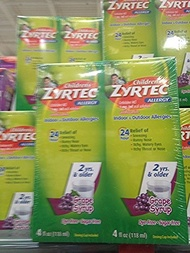 ▶$1 Shop Coupon◀  Zyrtec Allergy children s grape flavored 2x 4 oz