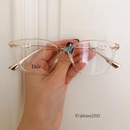免運DIOR迪奧眼鏡架 D家男女平光近視光學眼鏡框架 金屬鏡腿方形小鏡框眼鏡 超輕復古潮流百搭氣質眼鏡框素顏鏡 情侶眼鏡