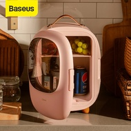 Baseus 8L Portable Mini Fridge Multifunctional Heating and Refrigeration Makeup Fridge with AC/DC Power Cord for Car Home Camping Travel