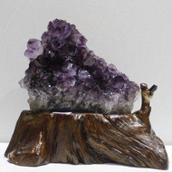消磁極品紫水晶洞塊 紫晶簇片聚寶盆