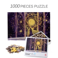 1000 Pcs/set Deep Forest ELK Puzzles Intellectual Game Relieve Stress for Adult Jigsaw Puzzle Paper Educational Toys Kids Gifts