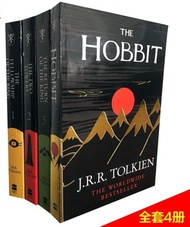 [4 books collection] The Hobbit + Lord of the Rings Trilogy English Novels English Extracurricular Reading Books