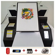 Multifunction dtg printer Inkjet UV LED Printer T Shirt Printing Machine A4 Size 6 colors refillable ink containers nHPk