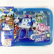 韓國製 POLI 波力 不鏽鋼 隔熱 三格餐盤 便當盒 兒童餐盤 環保餐具 附蓋  韓國進口正版 701682