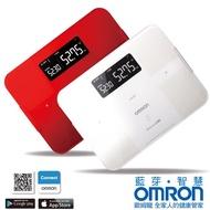 【醫康生活家】OMRON歐姆龍藍芽智慧體重體脂計HBF-254C(白/紅二色, 原廠公司貨, 買再送原廠購物袋)