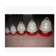 【雞鴨鵝飲水器-塑膠-3號-3.2kg-22*25-6套/組】水桶 水槽 水壺 養殖設備 料桶(量大可海運)-5101015