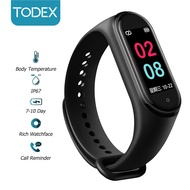 TODEX Smart Watch M4T 0.96 inch IPS color screen IP67 waterproof 24-hour body monitoring APP information remind sports smart wristband for Apple/Android