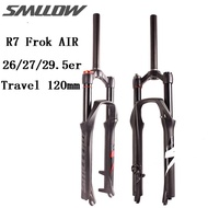 SMLLOW R7 Bike Air Fork MTB Bicycle Fork Double Shoulder Mountain Bike Fork 26/27.5/29er Straight Tube mtb fork