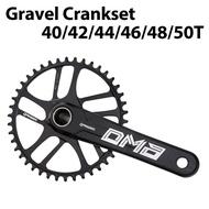 Gravel Cyclocross Road Bike Chainset Chain Wheel single 1x Road crankset crank 40/42/44/46/48/50t ckE1