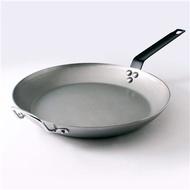【Gusto古斯特】碳鋼無塗層商用平底鍋 (四款可選、隔熱握把套加價購組合)
