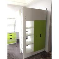 【土城二手市集】IKEA高腳床 高架床 架高床 附書桌 衣櫃 書櫃 雙層床 上下舖 系統櫃