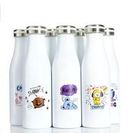 七七家 BTS 水壺 杯子 bt21新款保溫杯防彈少年團周邊同款水杯男女學生不銹鋼旅行杯