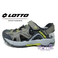 LOTTO樂得-義大利第一品牌 男款機能兩穿式排水護趾運動涼鞋 [6105] 軍綠【巷子屋】