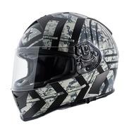 【極度風速】TORC T14 FORCE 消光黑銀 頭槌帽   彩繪 雙鏡片 全罩