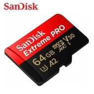SANDISK 64G Extreme PRO A2 V30 microSD U3 UHS-I 傳輸高達170M
