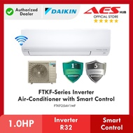[ WIFI ] DAIKIN 1 HP FTKF Series Inverter R32 Gas Air Condtioner FTKF25 1.0 HP Inverter Aircond Penghawa Dingin 冷气机