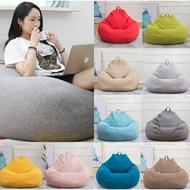 bean bag【ONSALE】S/M/L Stylish Bedroom Furniture Solid Color Single Bean Bag Lazy Sofa Cover DIY Filled Inside (No Filling)