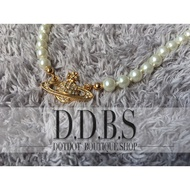 『DDBS Shop』正品英國代購vivienne.westwood 土星 水鑽 珍珠 項鍊 現貨 B8045 實品拍攝