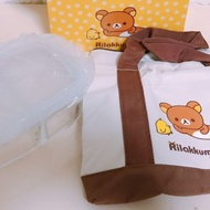 [108股東會紀念品]華南金 拉拉熊保溫袋 玻璃保鮮盒
