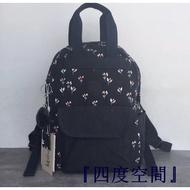 『四度空間』Kipling 猴子包 K70499 深藍小碎花 中款 通勤包 手提 雙肩包 後背包 學生書包