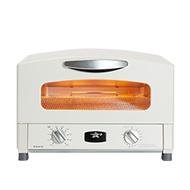 日本Sengoku Aladdin 千石阿拉丁「專利0.2秒瞬熱」復古多用途烤箱(內附烤盤組)-白色