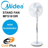 Midea Stand Fan MFS1618R / Non Flammable / Safety Pin / Double Fuse Protection