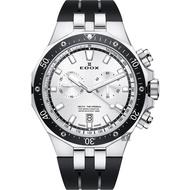【EDOX 伊度】Delfin 水上冠軍專業200米防水計時碼錶-黑/43mm(E10109.3CA.AIN)