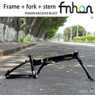 FNHON Blast folding bicycle disc brake version 20-inch frame, aluminum alloy frame, bicycle parts, including bicycle fro
