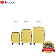 POLO TRAVEL CLUBเซตกระเป๋าเดินทาง รุ่น OC502 ขนาด 20 24 28 นิ้ว สีเหลือง ส่งฟรี