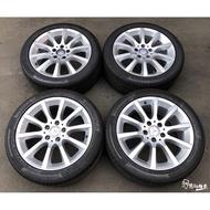 二手/中古鋁圈輪胎 原廠 賓士 BENZ 17吋 5孔112 銀 含胎 馬牌 225/45-17 C300 W204