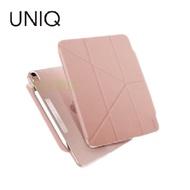 UNIQ Camden 抗菌磁吸設計帶支架多功能極簡透明保護套(iPad Air 10.9吋) 粉