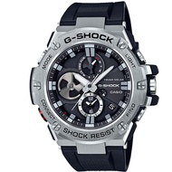 【CASIO】G-SHOCK G-STEEL渦輪葉片錶面設計太陽能藍芽錶-黑面(GST-B100-1A)