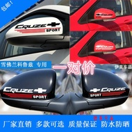 ✉✧【freight free】Chevrolet Cruze rearview mirror sticker Mirror Mirror Mirror sticker personalized modified rearview mirr