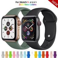 สายซิลิโคนนิ่มสำหรับApple Watch,อุปกรณ์เสริมสายนาฬิกาข้อมือขนาด38มม. สำหรับApple Watch Series1 2 3 4 5 42มม. 40มม. 44มม.