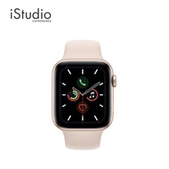 fashion Apple Watch Series 5 Gold Aluminum Case with Pink Sand Sport Band iStudio by Copperwired.