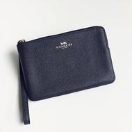 美國百分百【全新真品】Coach F58032 手拿包 女用 皮夾 PVC 錢包 皮包 零錢包 票卡夾 深藍 C850