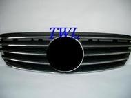 《※台灣車燈王※》全新BENZ賓士W210 99 00 01年外銷高級品SL-TYPE無框跑車式大星水箱罩