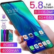 【hp terbaru 2021 murah】Reno3pro handphone promo RAM 6GB ROM 128GB 5.8inci or 5.0inci smartphone 4800mAh hp android termurah 4G SIM Ganda lte RINO3 V15 HD Full Screen Android 9.1 4G Net-work Phone 4+64GB Large Memory MTK6763