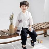 兒童唐裝 春秋漢服男童中國風唐裝寶寶中式民族服裝小孩改良復古童裝夏