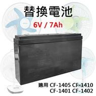 KINYO 耐嘉 14吋 充電式風扇-替換電池 CF-1401/CF-1402/CF-1405/CF-1410 充電電池 電池 備用電池 鉛酸電池 備用電源