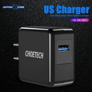 Choetech QC 3.0 USB Fast Wall Charger US Plug Travel 18W Fast Charging Adapter
