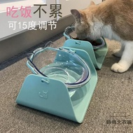貓飯盆 保護頸椎斜口貓碗 雙碗貓糧碗貓食盆貓盆傾斜貓咪寵物碗