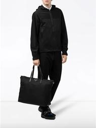 【Chiu189英歐代購】PRADA 尼龍 鐵牌 大托特包 黑色 斜背包 旅行包